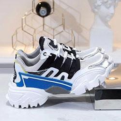 Горячая новая обувь запустить дизайнер дамы мужская повседневная кожаная сетка повседневная обувь 35-45 10065