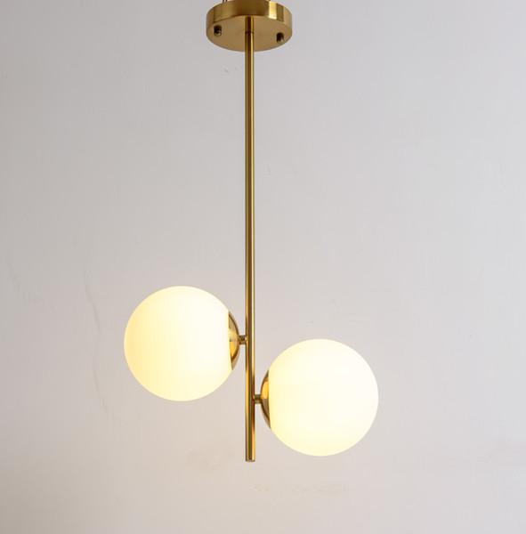 Küre kolye lamba Metal Kaplama Altın Renk G9 Ampul Cam Topu Gölge Led Hanglamp Işık fikstür Residence Ev Led Kolye Işıkları