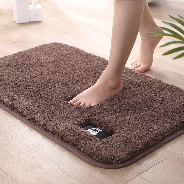 2019 New Popular Wholesale -80X120CM water absorption memory foam bath bathroom floor shower rectangular door mat carpet