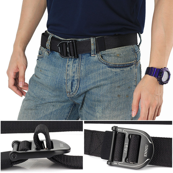 Wholesale High Quality Cheap US Army Outdoor New Nylon Canvas Woven Tactical Inner Belt with Heavy D-ring Quick-release Buckle