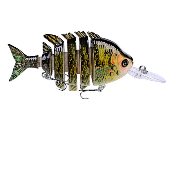 Quality Swimbait Hard Bait 10cm 13.67g Fishing Jointed Lure 6 Segments Artificial Minnow Lures For Perch