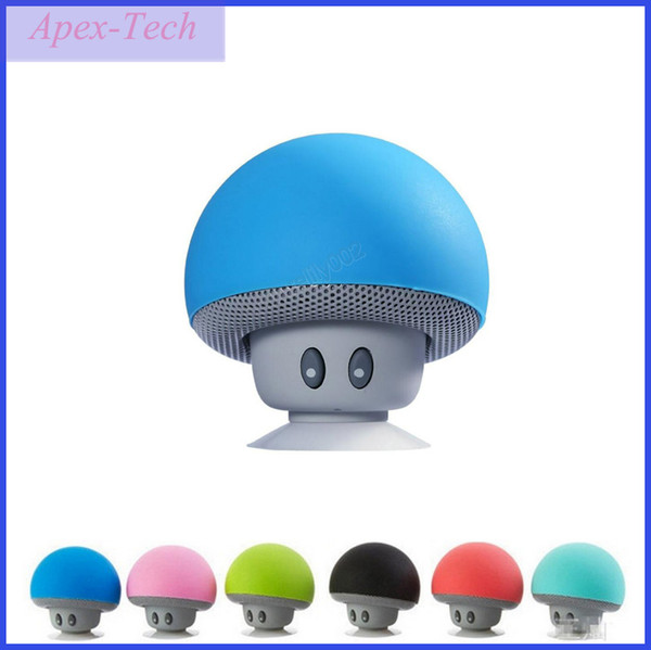 100XNew Mini Speaker Bluetooth Mushroom Shape Loudspeaker Super Bass Stereo Subwoofer Music Player For iPhone Andriod Mobile Phone Free Ship