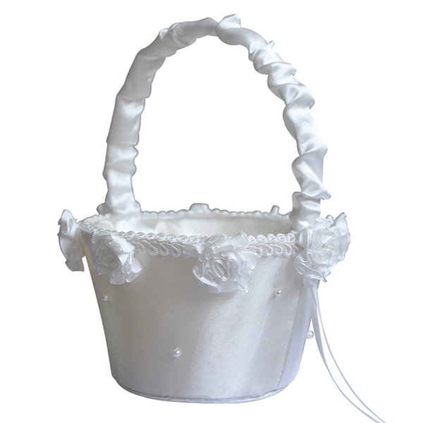 Flower Girl Baskets for Wedding Favors Basket Bridesmaid Petal Basket Wedding Accessories Photography Props Bridal Favors New CPA1908