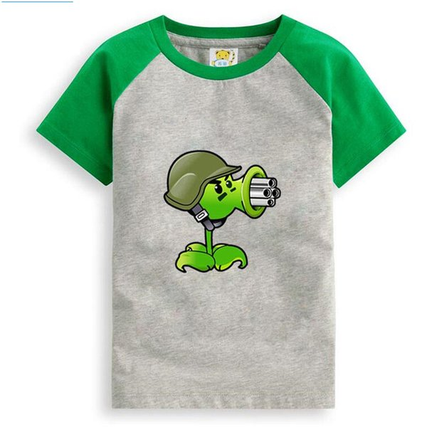 Pflanzen Vs. Zombies Cartoon Kinder T Shirts Jungen Kinder T-Shirt Designs Teen Kleidung Für Jungen Baby Kleidung Mädchen T-Shirts Y190516