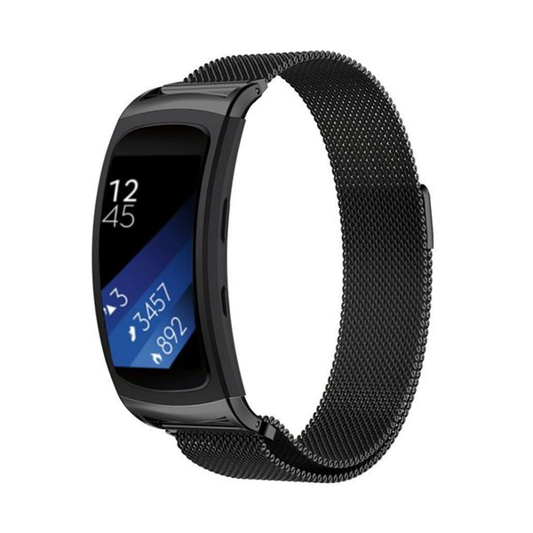 Milanese Loop for Samsung Gear Fit2 Replacement Watchband Stainless Steel Metal Wristband for Samsung Smartwatch Fit2 Strap Band