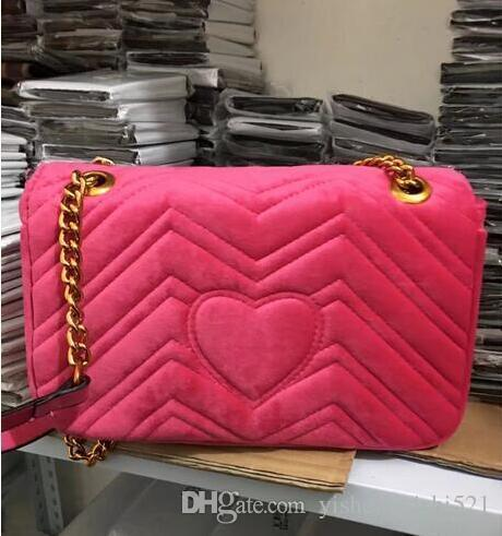 Free shiopping 2018 New gift Fashion black chain makeup bag famous luxury party bag Marmont velvet shoulder bag Womendesigner bags