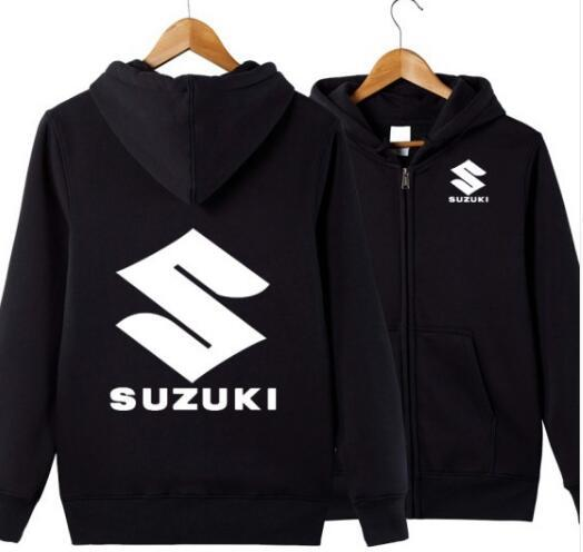 Mens Hoodies Sweatshirts for SUZUKI car logo zipper Hoodie Jacket Men Clothes Fashion Hooded Outdoor sports warm Hoodies jacket