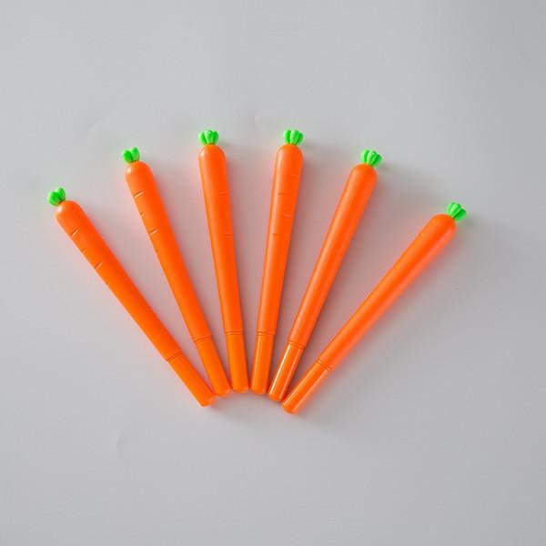 Creative Stationery Lifelike Orange Carrot Shape Gel Pen 0.5mm Black Sign Pen Fast Shipping WB625