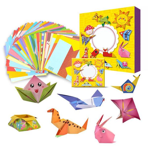 54 Adet Çocuklar Için Marka Origami Kitap Hayvan Desen 3d Bulmacalar / Çocuklar Diy Kağıt Zanaat Üretim Öğrenme Eğitici Oyuncaklar J190521