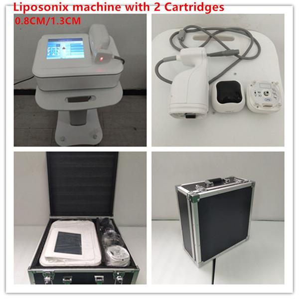 Vendita calda 0.8CM Forma 1.3CM corpo rimozione del grasso Spedizione portatile Liposonix macchina ultrasuoni dimagranti sistema DHL