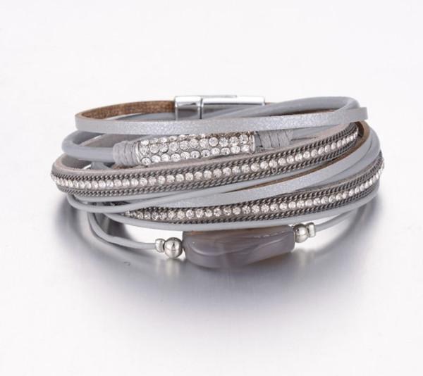 Armband für frauen luxus designer schmuck frauen armbänder für männer neue deigner armreif kristall achat leder armreif mode charme schmuck