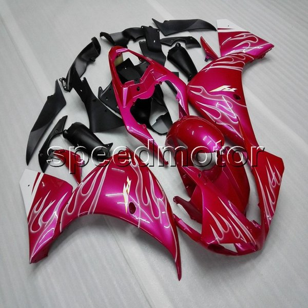 Custom+Screws ABS pink Fairing YZFR1 09-11 YZF-R1 2009 2010 2011 ABS motorcycle panels for Yamaha