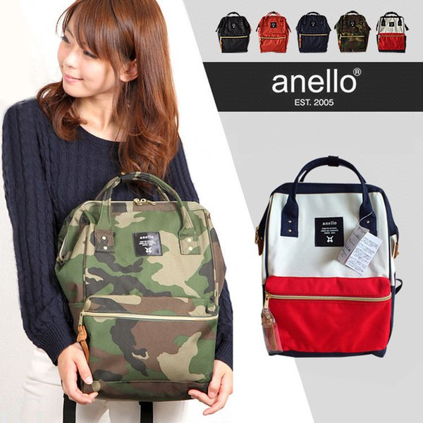 Hottest!!! DHL Japan Anello Bag Women's Fashion Designer Handbags Backpack Style Teenage School Bags Mom Designer Bags 16 Colors To Choose