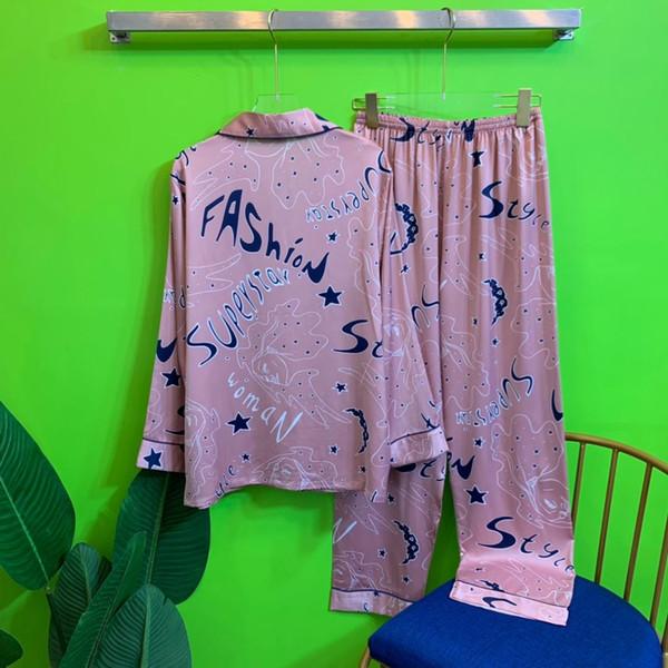 Сексуальное женское бельё для женщин Secr Satin Nightdress Nordic Style Кружева Кимоно Ночная рубашка Пижамы Сексуальный халат с V-образным вырезом Летняя гостиная Атласная пижама M L