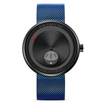 Reloj de cuarzo casual y cómodo Reloj de hombre Reloj de correa de acero resistente al agua Reloj luminoso resistente al agua Dial grande versátil