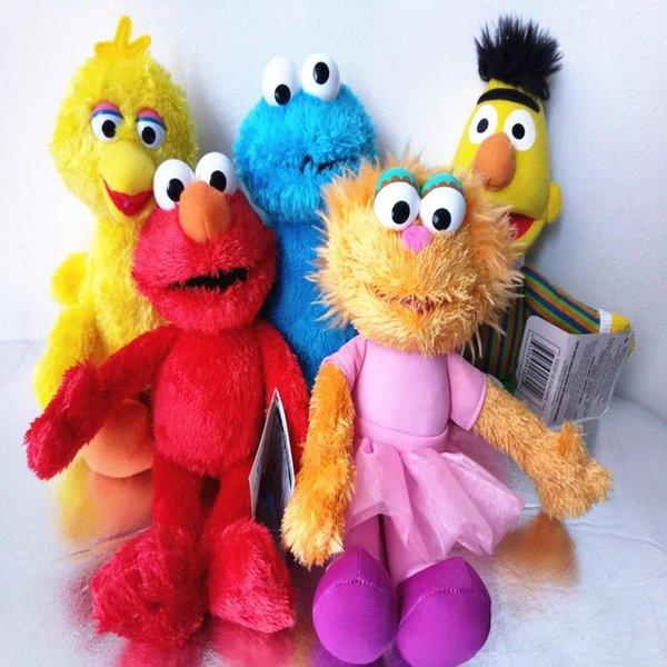 Regalo gift1 Sesame Street Elmo Cookie Monster Big Bird Bert Ballerina Zoe 24CM bambola peluche ripiene Miglior Peluche 5 stili