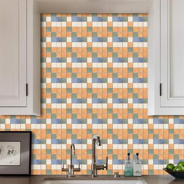 DIY 3D Mozaik Kendinden Yapışkanlı Duvar Karosu Sticker Vinil Ev Banyo Tuvalet Mutfak Dekorasyon Su Geçirmez PVC Duvar Kağıdı
