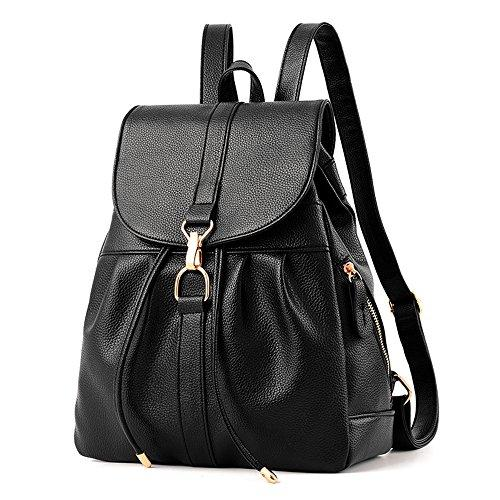 New Design Backpack Purse for Women, Waterproof PU Leather Anti-theft Shoulder Bag for Work Hiking Travel Daily Use