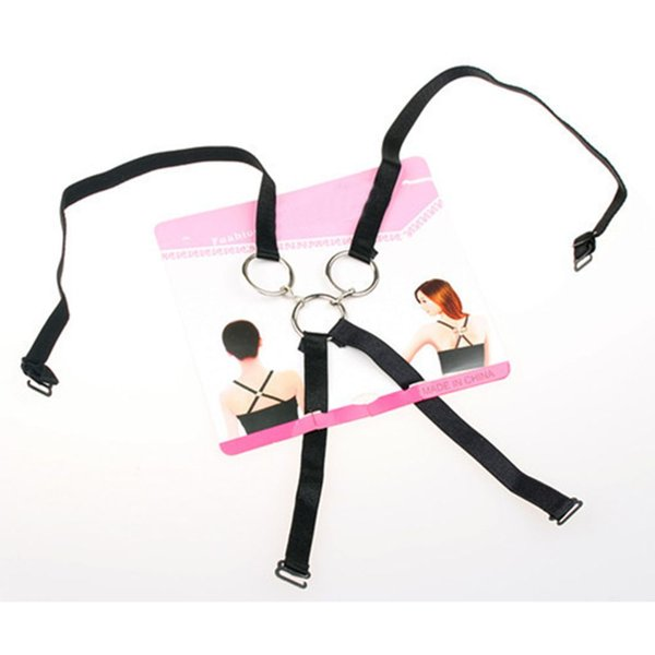 1PC Fashion Charming Sexy Women Behind The Bow Invisible Three-rings Underwear Shoulder Strap Cross Belt Summer Accessories
