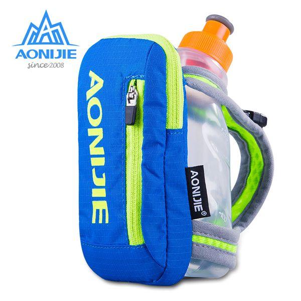 AONIJIE Naylon Maraton El Hidrasyon Paketi Açık Spor Çanta Yürüyüş Bisiklet Koşu Su Isıtıcısı El Çantası için 250 ml Su Şişesi