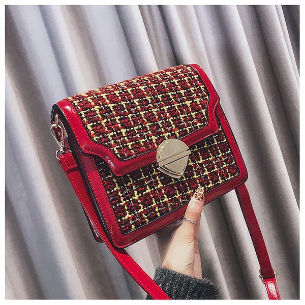 2018 женщин плечо клатч плед сумки Сумки для девочек крест тела кошелек сумки Bolsa Feminina Daidai wanggong / 11