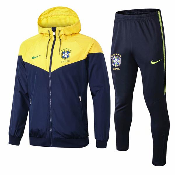 Best-selling new 18 19 Brazil jacket Coutinho Marcelo hoodies 2018 2019 tracksuits soccer jersey Silva Firmino windbreaker sport coat