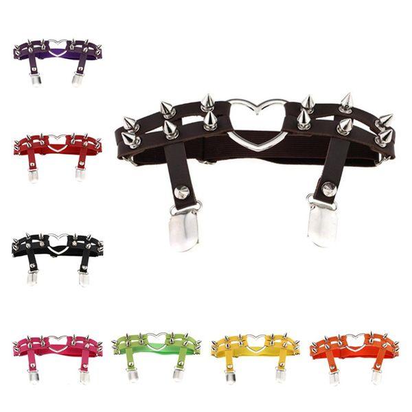 New style Harajuku garter Punk garter Love Shape garters Cortical garters Handmade suspenders Rivet suspenders T6I6018