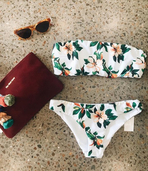 New women girl printed bikini ladies sexy swimsuit split swimsuit bikini two pieces for summer beach