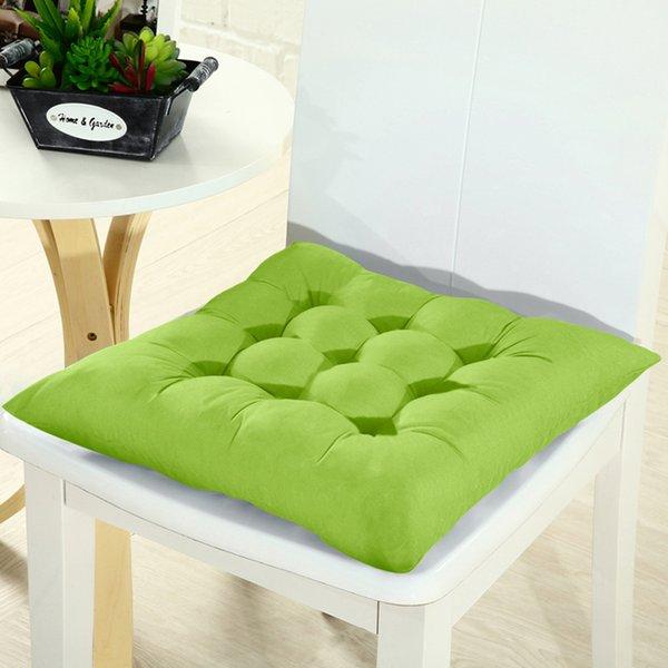 junejour Praça Chair Pad Thicker Almofada do assento para um jantar Pátio Home Office 37x37cm / 14.6x14.6