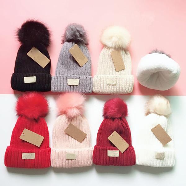 uomini e donne cappuccio senza cappuccio di qualità di inverno hot fashion brand pieno maglia cappello via della moda cappello caldo SZ539