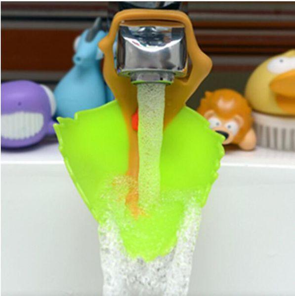 Creative Leaf Modeling Children's tap extender Baby Hand Washing Assistant Faucet flume Medicalhand-washingdevice
