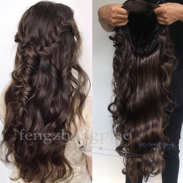 FZP Супер Мода Волнистые Длинные Парик 4 # Моделирование Человеческих Волос Парики Для Чернокожих Женщин Бразильский Девы Полный Парик Оптовая