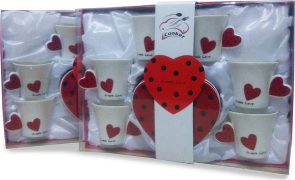 best selling Cooker Cook 6s Porcelain Coffee Cup Set Ship from Turkey HB-000646267