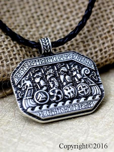 Nordic Vikings Amulet Pendant necklace Legendary Odin/'s Knot Hammer Talisman