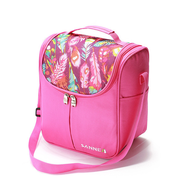 Cooler Bags 7L Thermal for Lunch Double Deck Ice Pack Picnic Storage Lunch Bags Folding Insulation Food Bags for Women VT0145
