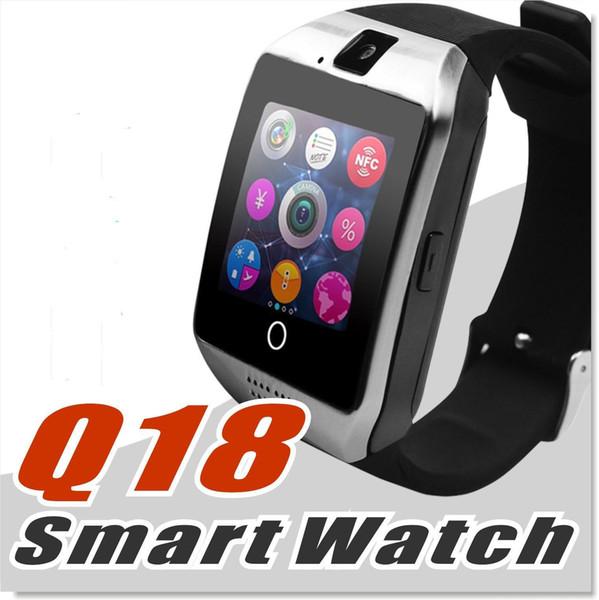 Para Iphone 6 7 8 X Bluetooth Reloj Inteligente Apro Q18 Mini Cámara Deportiva Para iPhone Android Samsung Teléfonos Inteligentes GSM Tarjeta SIM Toque gratis DHL.