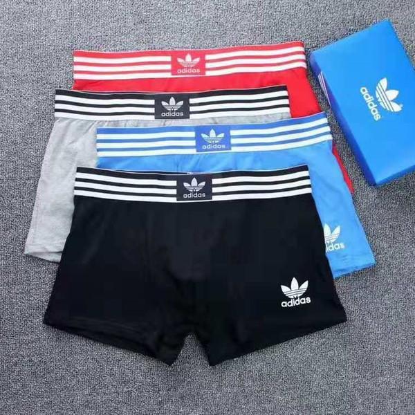 89458b9c8bcb72 Men's Underwear High Quality 4 Colors Sexy Cotton Men Boxers Breathable  Mens Underwear Branded Boxers Logo