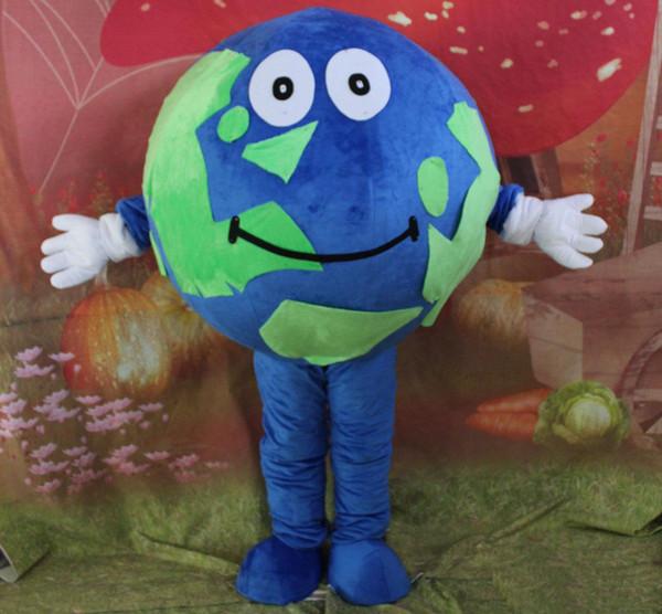 2019 Hochwertiges heißes grün-blaues Maskottchenkostüm für Erwachsene
