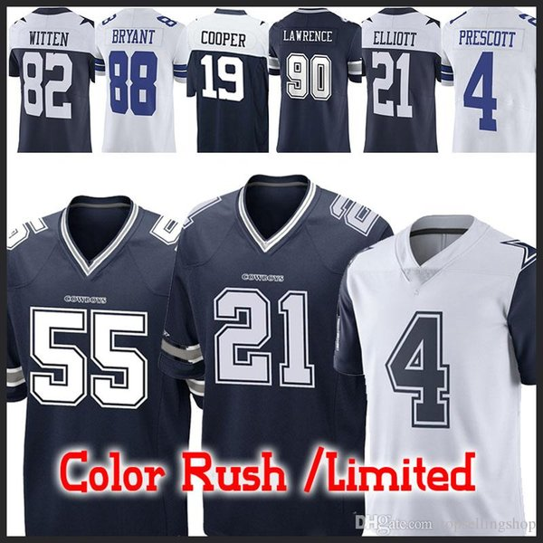 newest 504ba c1530 2019 55 Leighton Vander Esch Cowboys Dallas Jerseys 21 Ezekiel Elliott 4  Dak Prescott 19 Amari Cooper 90 DeMarcus Lawrence 82 Jason Witte Jersey  From ...