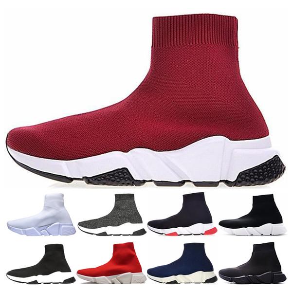 Balenciaga sock speed trainer shoes Erkekler Çorap Hız Rahat Ayakkabılar Tasarımcı kadınlar Üçlü siyah kırmızı beyaz gri Sneakers Çorap Yarış Koşucular Spor Çorap Eğitmen Açık