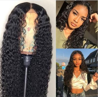 180% density Brazilian Kinky Curly Wig Long Loose Curly Wave Synthetic Lace Front Wigs 22-26ich