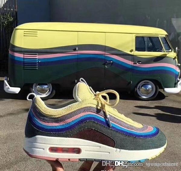 Compre Nike Air Max 97 VF SW Top Sean Wotherspoon SW Hybrid Zapatos Casuales Para Hombres Y Mujeres Moda Transpirable Zapatos Casuales Cómodos Tamaño