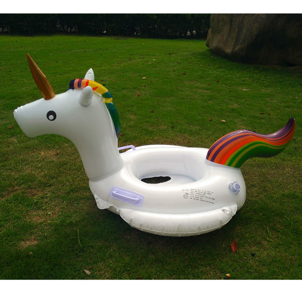 Summer Swimming Rings Inflatable Floats Giant Inflatable Unicorn Floating Raft PVC Pool Toy Floating Row For Kids Adults Wholesale