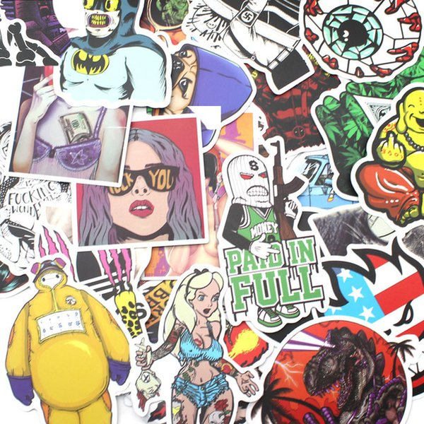 100pcs Mixed funny brand DIY Sexy stickers for Home decor laptop sticker decal fridge skateboard doodle Car Motorcycle Bicycle