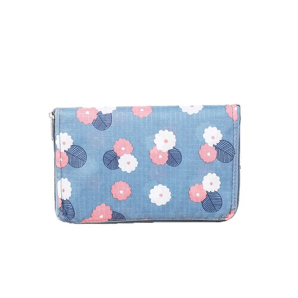 Women Tote Reusable Casual Portable Eco Friendly Flower Print Supermarket Pouch Large Capacity Shopping Bag Handbags Foldable