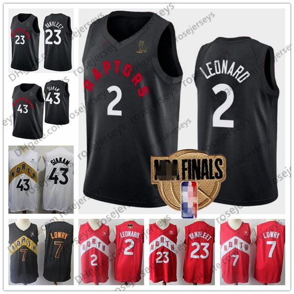 competitive price 2cc86 5c908 2019 2019 Finals Raptors OVO Jersey #2 Leonard #7 Lowry 23 VanVleet 43  Siakam Toronto Gold White Red Black North Kawhi Kyle Fred Pascal From ...