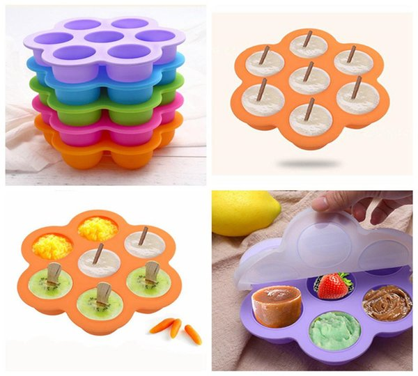 16.0*16.0*4.5cm Silicone Egg Bite Mold Baby Food Storage Container Fruit Ice Cube Ice Cream Maker Kitchen Bar Drinking Accessories K166