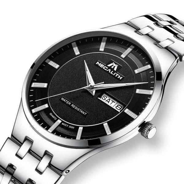 MEGALITH Fashion Casual montre pour homme avec date calendrier étanche quartz analogique Montres Montres Relogio Masculino