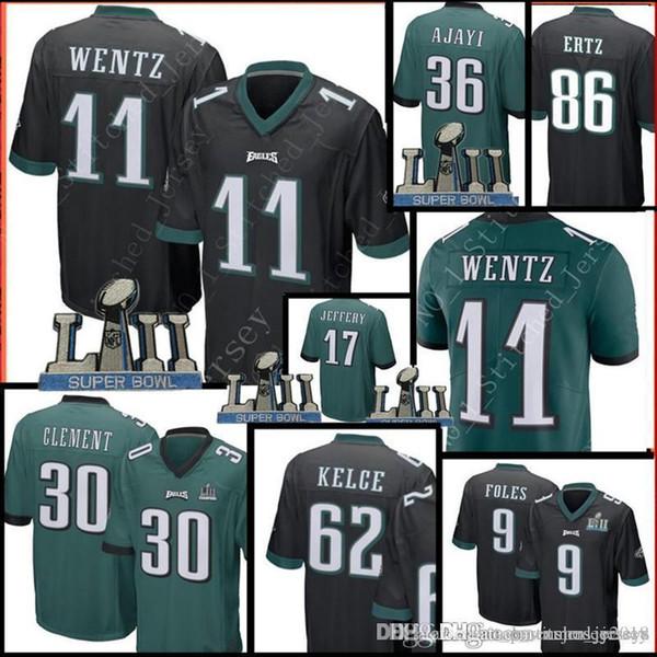 Philadelphia Eagles 30 Corey Clement 11 Carson Wentz 86 Zach Ertz 62 Jason  Kelce Jersey Hombres 36 Jay Ajayi 17 Alshon Jeffery Jerseys b7dfd79fe