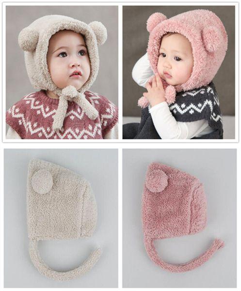 Baby Winter Warme Mütze - Cute Bear Ear Kleinkind Mütze Neugeborenen Hüte Plüsch Babys Cap Fotografie Zubehör für 0-1